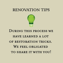 Our Renovation Tips