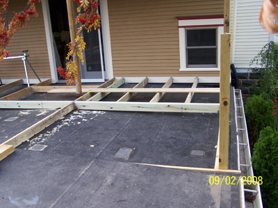how to build a deck over a rubber roof
